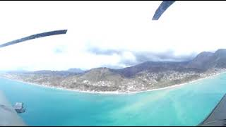 360 footage of the UK aid humanitarian needs assessment in Dominica