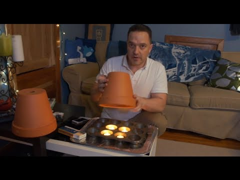 Clay Pot With Tea Lights Room Heating 4hr Diy Test Youtube