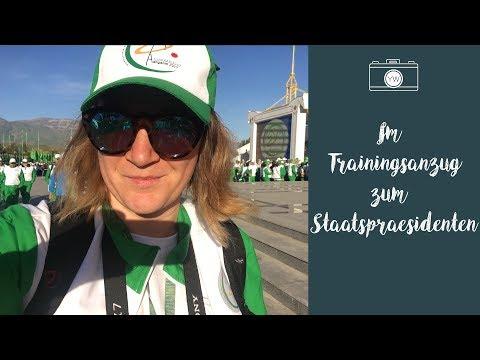 Im Trainingsanzug zum Staatspräsidenten - Tag 4 in Turkmenistan  YvisWay
