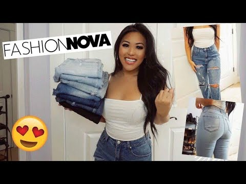fashion-nova-denim-try-on-haul!-best-jeans-for-fall-2018!-short/thick-girl-friendly