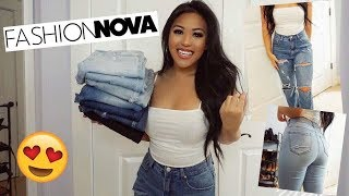 FASHION NOVA DENIM TRY ON HAUL! BEST JEANS FOR FALL 2018! Short/Thick Girl Friendly
