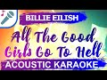 All the good girls go to hell karaoke version billie eilish instrumental lyrics mp3
