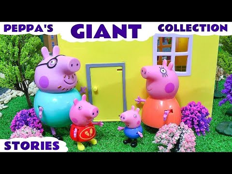 Peppa Pig for kids and children Pepa toys for Play Doh Juguetes de Pepa & surprise eggs  T4U
