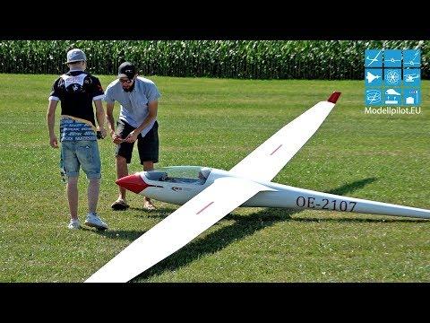 HUGE ASW 17 50% 1:2 RC SCALE GLIDER DENNIS GUTOWSKY AIRSHOW FLIGHT MODELLBAU BRUCKMANN
