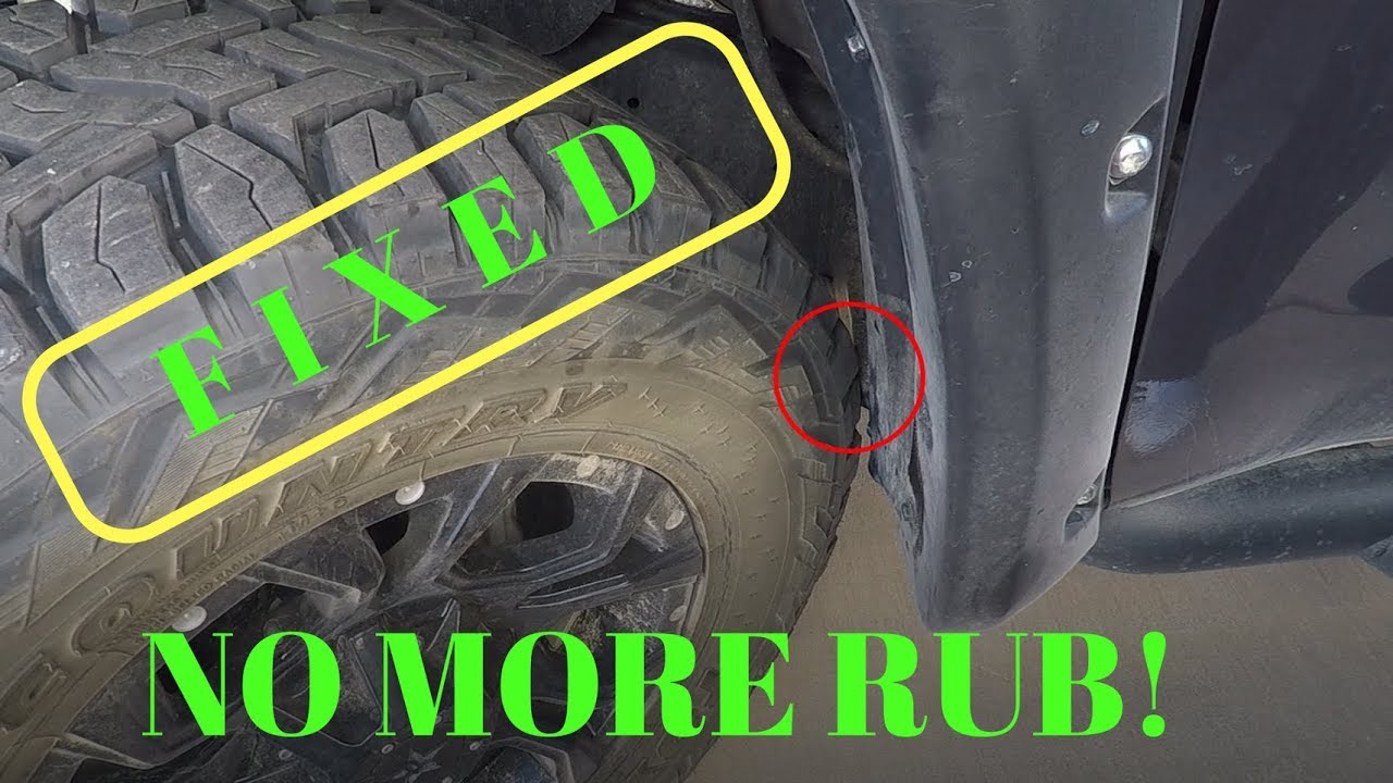 Fixing Tire Rub