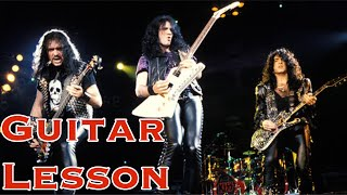 God Gave Rock and Roll to You II - KISS - Guitar Solo Lesson