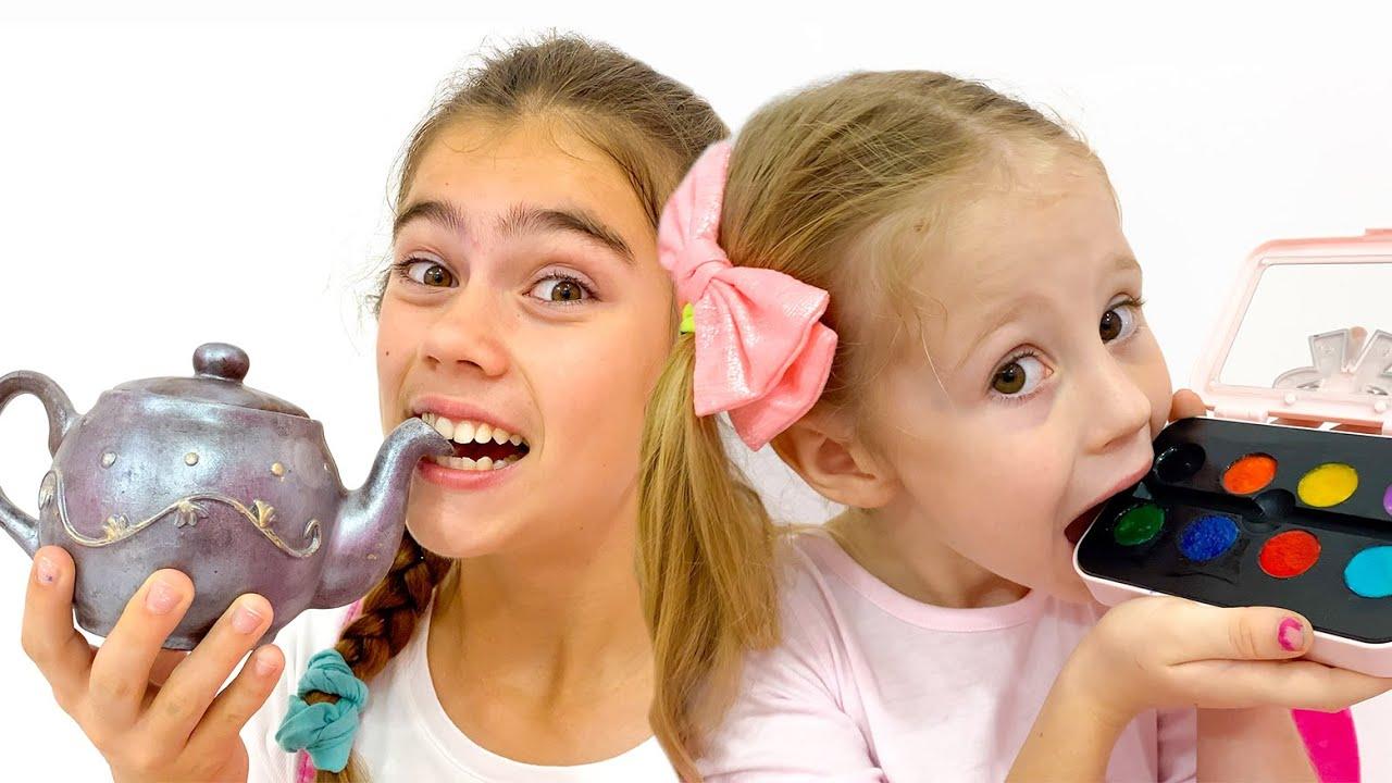 Loạt trò chơi ngoài trời Nastya Katya và Max dành cho trẻ em