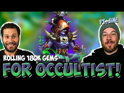 Rolling 200,000 Gems For Occultist Castle Clash