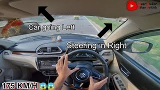 Learn to control car steering at high speeds || Maruti dzire