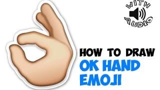 Drawing: How to Draw Okay Emoji or OK Emoji