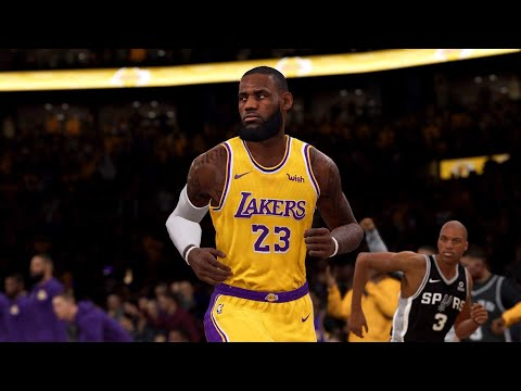 NBA LIVE 19 - San Antonio Spurs vs Los Angeles Lakers - Full Game - PS4 PRO - HD