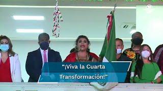 El Grito de Independencia de la alcaldesa de Iztapalapa, Clara Brugada, duró más de dos minutos