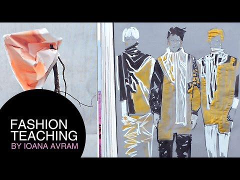 Men Fashion sketches on a transparent paper