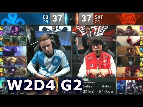 C9 vs SKT - Worlds 2016 W2D4 Group B | LoL S6 World Championship Week 2 Day 4 SKT vs C9 G2 Worlds