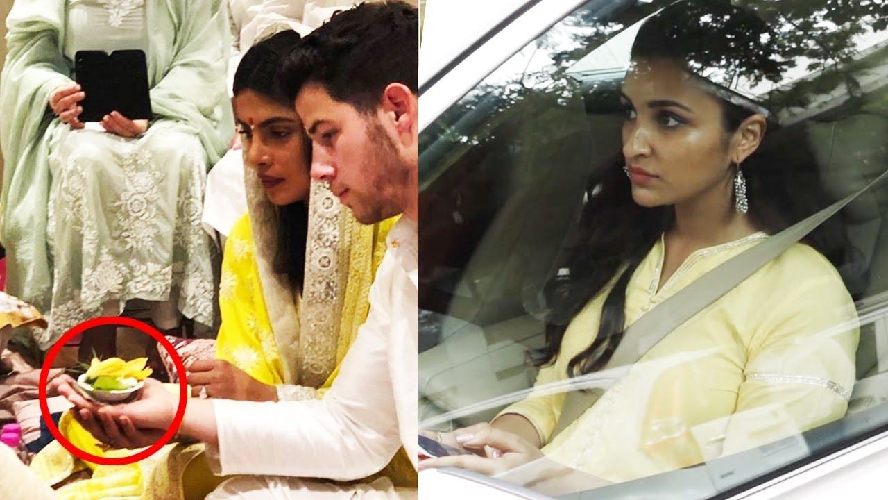 Inside Priyanka Chopra Nick Jonas Wedding Engagement Ceremony In Indian Style At Her House Mumbai Youtube