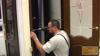 Установка межкомнатных дверей своими руками  Видео инструкция(Перед тем как самостоятельно устанавливать дверь необходимо отторцевать стоевые двери. Зазор между полом..., 2014-06-02T17:50:11.000Z)