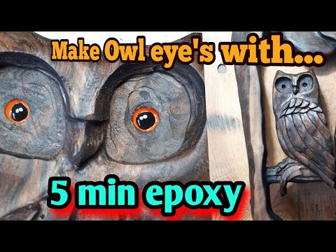 Learn to make OWL eyes with 5 minute Epoxy,