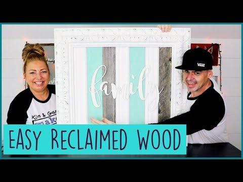 DIY Farmhouse Reclaimed wood FAMILY sign