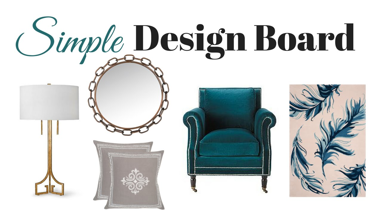 Decorating Quick Tip How To Create A Simple Design Board For Home Projects Youtube
