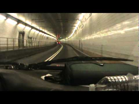Driving through the Holland Tunnel in a Silverado