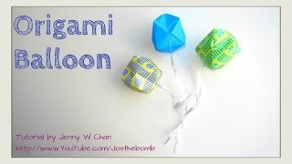 How to Fold Origami Ball Balloon - Summer Crafts Kids - Traditional Easy Paper Ball Beginner Origami