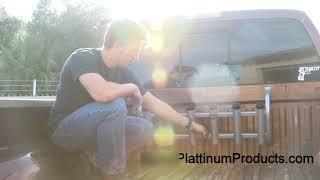 Plattinum Products Over the Tailgate Rod Holder Installation