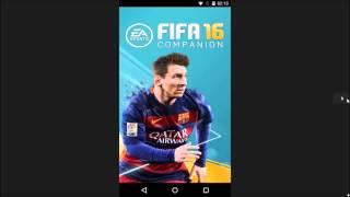 Aplicativo companion fifa 16 (ultimate team) não entra no android