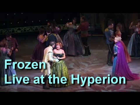 FULL Frozen Musical Live Show, Disney California Adventure Mezzanine View