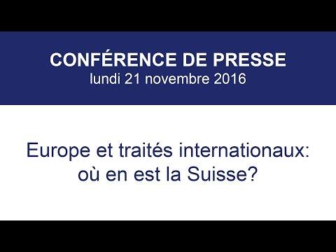 Europe et traités internationaux: où en est la Suisse?