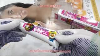 Корейская детская зубная паста DENTA SMILE kids Pororo киви
