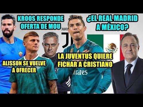 ¿LA JUVENTUS A POR CRISTIANO? | KROOS CONTESTA A MOU | ¿REAL MADRID A MÉXICO? | ALISSON SE OFRECE thumbnail