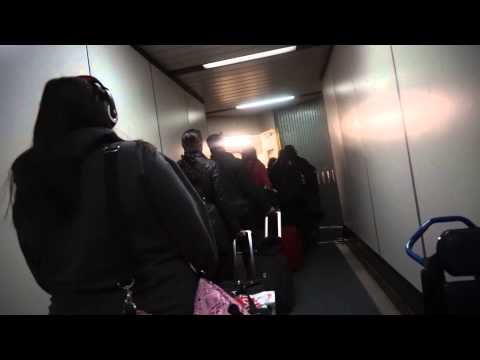 boarding our flight: Boston, MA to Reykjavik, Iceland (January 26th, 2015)