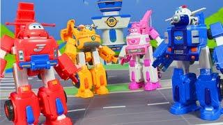 SUPER WINGS deutsch: Bagger, Feuerwehrmann Jett & Mehr Polizeistation Spielzeug für Kinder