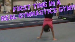 First Time In A Gymnastics Gym | Lydia The Gymnast | Gymnastics 101