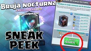 ¡¡EL DESAFÍO DE LA BRUJA NOCTURNA!! Gameplay de la NUEVA CARTA | Sneak Peek | Clash Royale