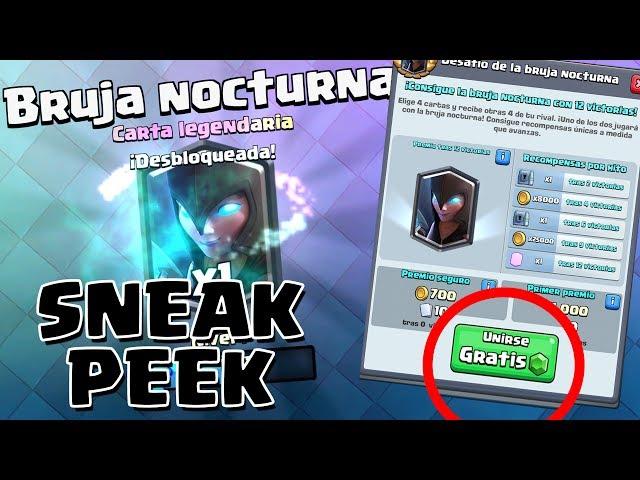 ¡¡EL DESAFÍO DE LA BRUJA NOCTURNA!! Gameplay de la NUEVA CARTA   Sneak Peek   Clash Royale