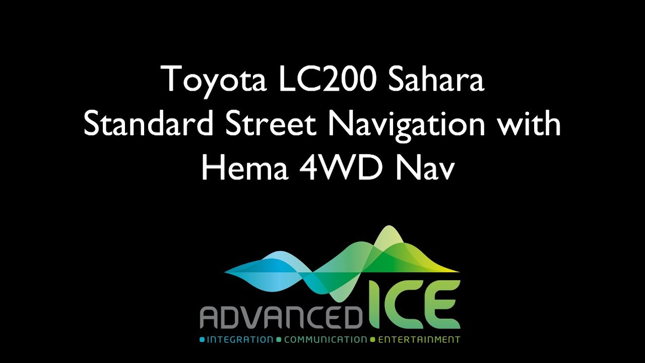Toyota Sahara/VX Integrated Navigation System with Hema 4WD