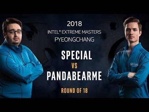 StarCraft II - SpeCial [T] vs. PandaBearMe [Z] - Ro18 - IEM PyeongChang
