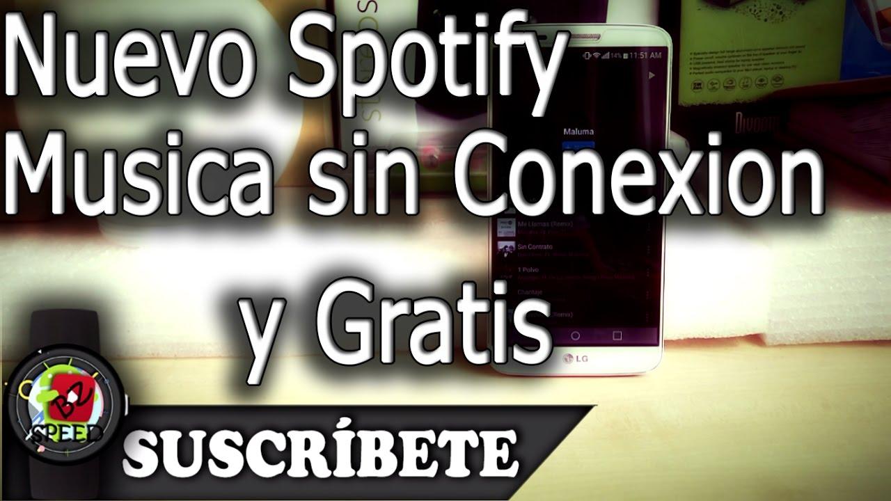 descargar spotify sin conexion a internet gratis