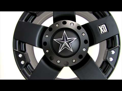 XD Series Rockstar Matte Black Wheels Rims 18x9