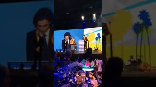 Armie Hammer introducing Timothée Chalamet at Palm Springs Gala