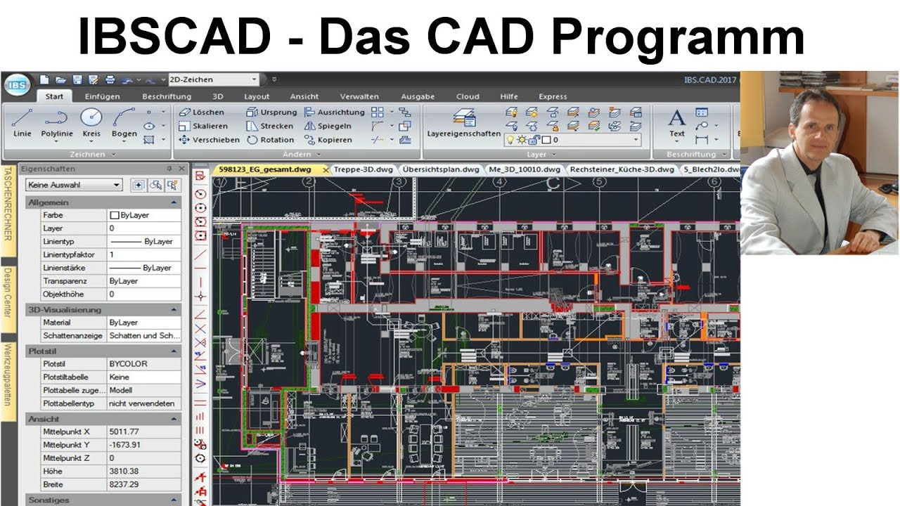 Cad programm ibscad 2d und 3d youtube for 3d cad programm