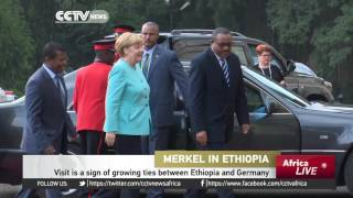 Merkel in Ethiopia on the last leg of her three-nation African tour.