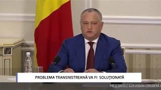 Problema transnistreană va fi soluţionată
