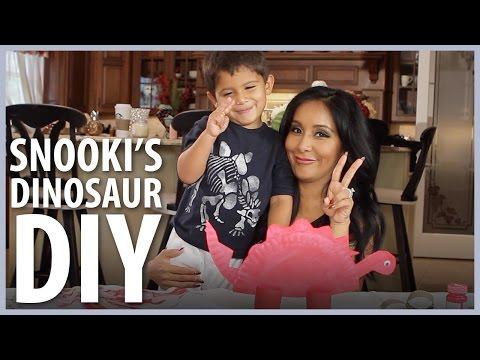 Snooki's Dinosaur DIY with Lorenzo & Giovanna!