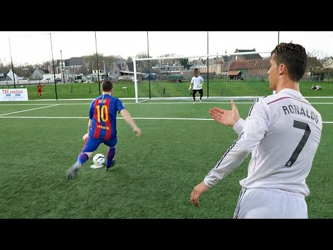 CRISTIANO RONALDO VS MESSI - PENALTY SHOOTOUT | IN REAL LIFE!