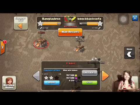 CLASH OF CLANS-BEST CLAN WAR ATTACK-BANGLADESH 400TH WAR