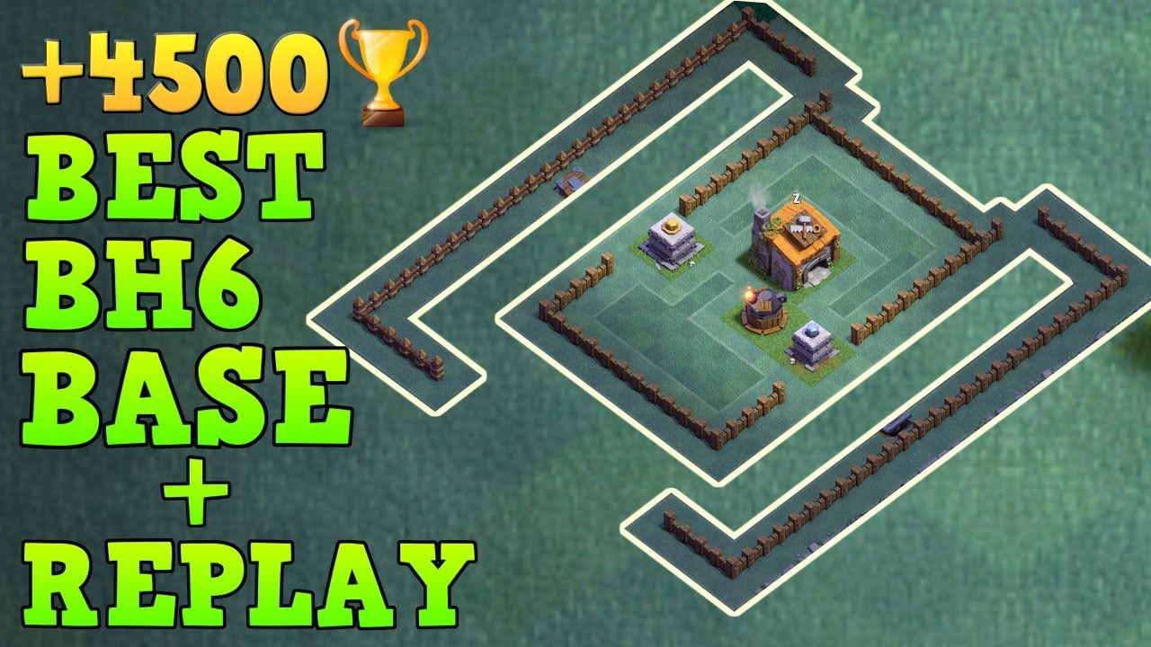 Best Builder Hall 6 Base 4500 Trophy Coc Bh6 Builder