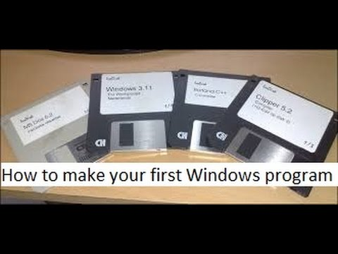 how to make a windows program