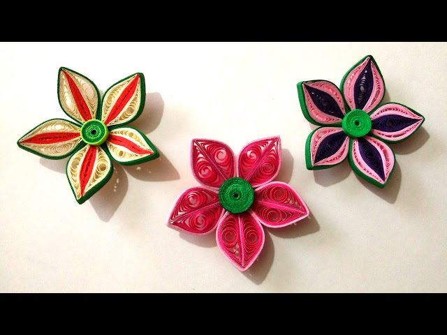 Diy how to make beautiful flower danglers using paper art quilling mightylinksfo